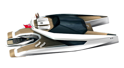 Catamaran moteur 115′ – Peugeot Design Lab