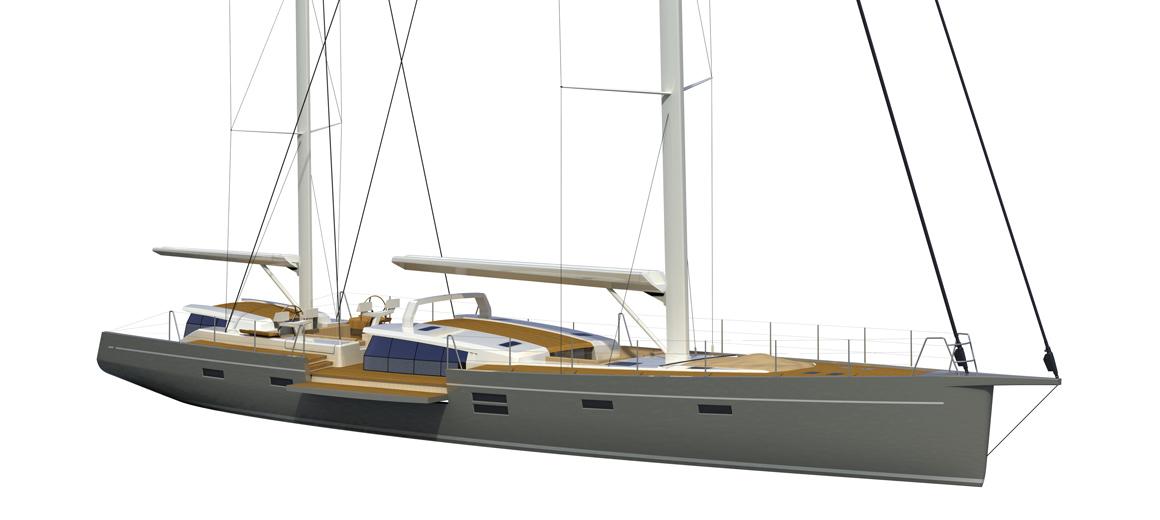 Modern ketch - jfa yachts - voilier custom 100