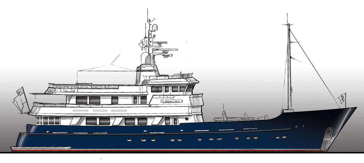 Motor yacht d'exploration 141'