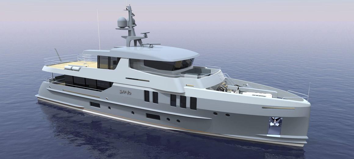 Yacht d'exploration 110 - Projet JFA Yachts
