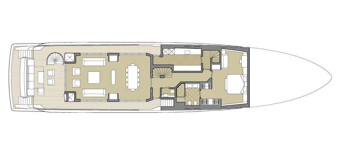 Explorer yacht 110 - Main deck