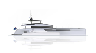 Motor yacht – Power trimaran 108′