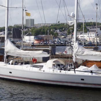 Mari Cha III refit - ponton Concarneau