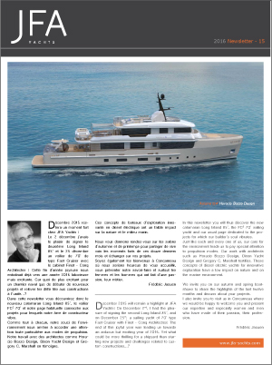 JFA Yachts - Newsletter #15 - 2016