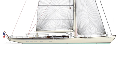 Classic Sloop – 125′ Sailing Yacht