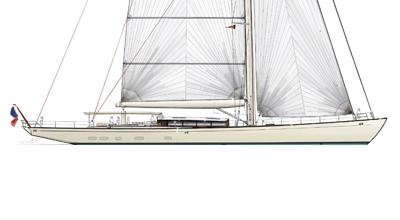 Sloop Classique – Sailing yacht 125′ – Aluminium