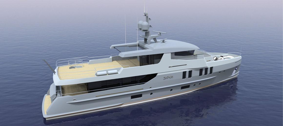 Yacht d'exploration 110 - Projet JFA Yachts / Van Der Velden