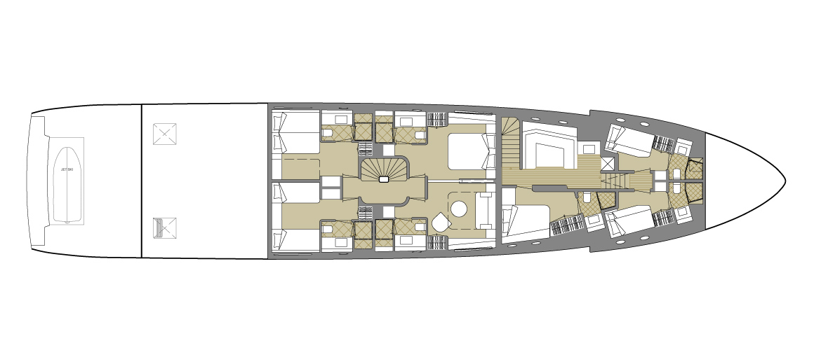 Explorer yacht 110' - Lower deck