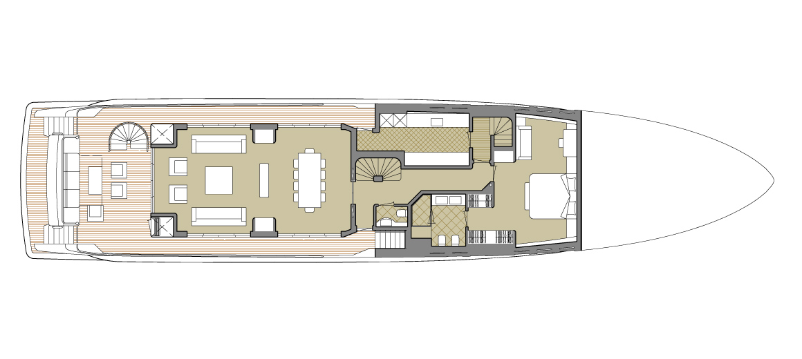 Explorer yacht 110' - Main deck