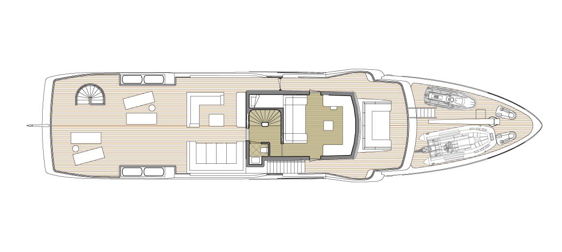Explorer yacht 110' - Upper deck